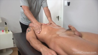 hot guy gets a hard-on during massage
