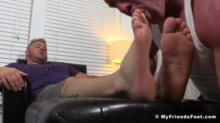 blond brute aaron bruiser gets his feet workshipped
