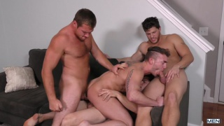 4-man orgy finale of Dad Group