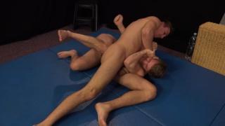 naked wrestlers Mirek Madl and Martin Polnak jack off