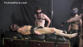 marky strapped down and tickled by two men