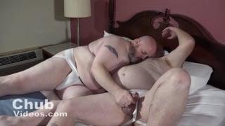 chub daddy spanks his big-bellied boy
