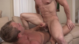 joey rides blond blake's big dick