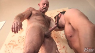 Brendan Patrick gives his ass to a bald daddy