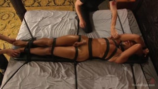 mike maverick tied to the bed and cock edged