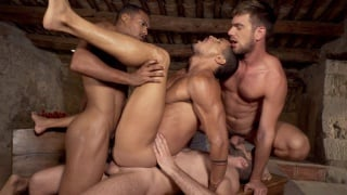 IBRAHIM MORENO gets double penetrated in fourway
