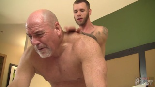 sexy boy toy fucks grey-haired man