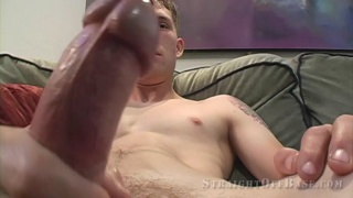 marine strokes his big piece of meat