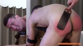 hung straight boy spanked on the bench