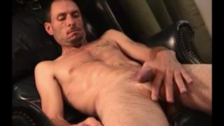 skinny landscaper jerks his dick