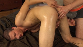 euro boy gets his ass played with during massage