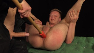 security guard Rado Zuska dildo fucks Petr Courek
