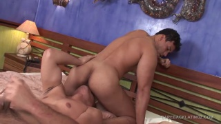 buff latino eats a hot piece of ass