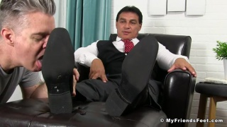 Daddy Vince Gets Foot Worshiped