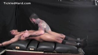 Dwayne get his size 10 bare feet tickled
