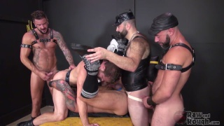 hugh hunter gets banged by four men