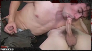 curly-haired bottom gets fucked