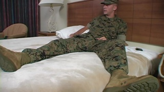 straight marine wanted to try out this gay cocksucker