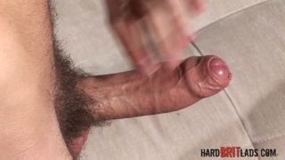 british guy strokes his veiny uncut dick