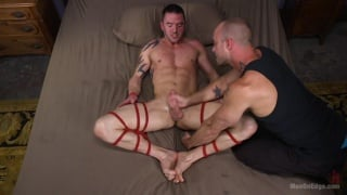 Muscular Straight Boy Jason Styles Edged in Bondage