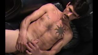 inked redneck jerks his cock