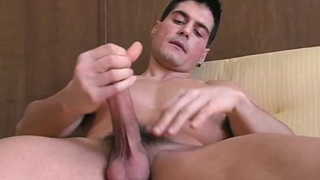 Muscular Italian guy jerking
