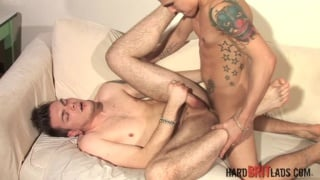 Tristan naked in bed with hardon