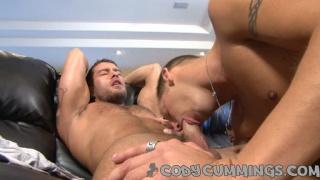 Gorgeous jock gets sucked