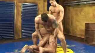 Wresling men's cumshot medley