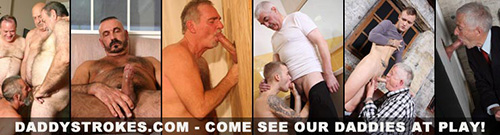 To watch the full video visit Daddy Strokes