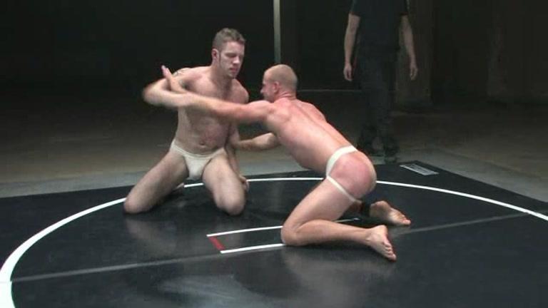 Nude men oil wrestling