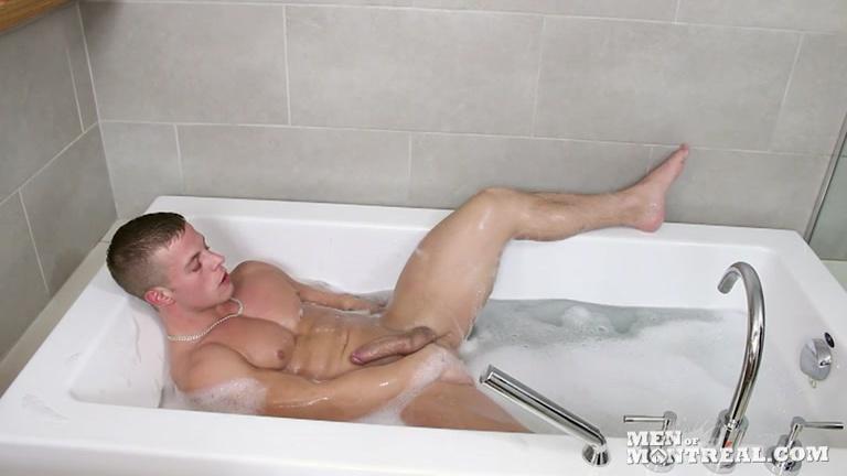 Naked man bubble bath will not