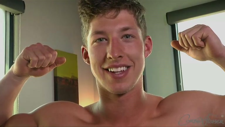 Cute Muscle Stud Beating Off