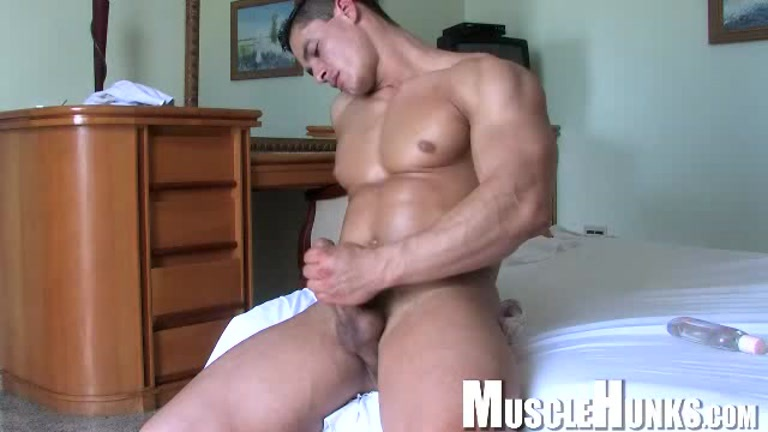 Perfect male non professional strokes his monstrous penis