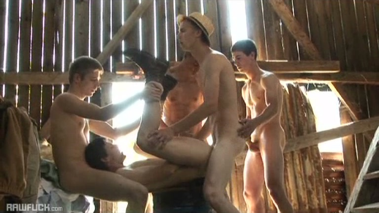 barebacking farm boys fucking in barn