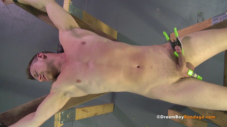 Male spread eagle bondage