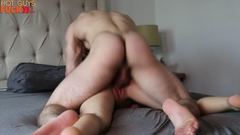 Cbt hot asian muscle stud fucks white