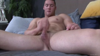 handsome ripped stud is a fast stroker