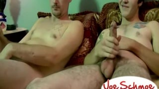 straight boys fuck each other raw in flip-fuck session