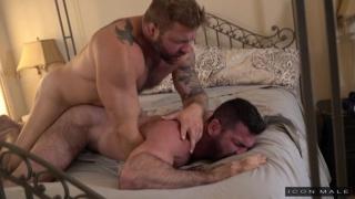 Colby Jansen pounding Billy Santoro into the mattress