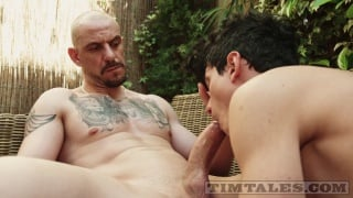 small twink bottom gets pounded by hung bald stud