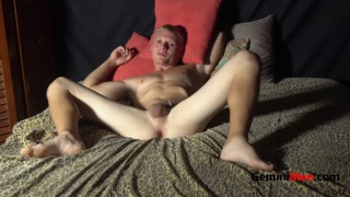 sexy blond guy does his porno screen test