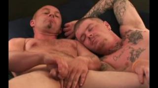 two rednecks cuddle & jack off together