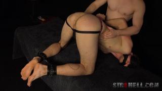 euro boy held down & gets spanked & fingered