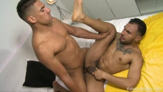 handsome bottom does a spanish man's super big & cock fat