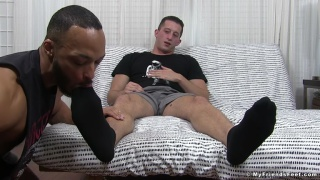 foot worshipper finally finds someone to take care of his feet