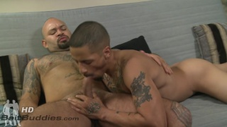 slim latino gets fucked by a butch stocky dude