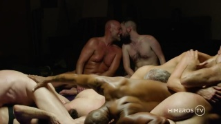 body-to-body and cock-to-cock wrestling fun