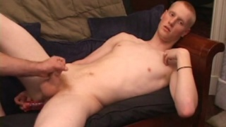 Lean Ginger Stud Gets Fingers & Stroked