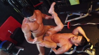 Asian Muscle Boys Fuck in the Gym
